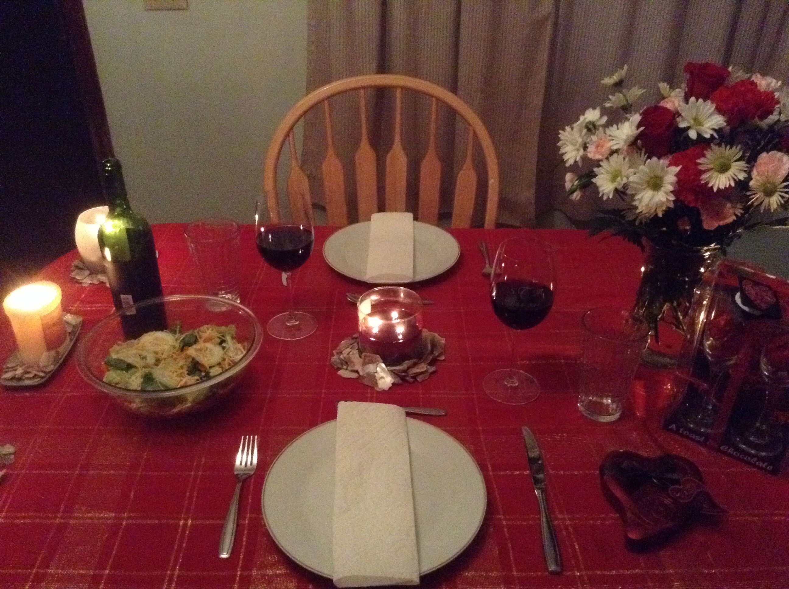 Romantic candle light dinner simple table set up for Easy romantic dinners to make at home