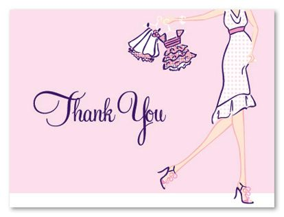 Girl Glee Baby Shower Thank You Cards, 20781 Baby Shower Thank - baby shower thank you notes