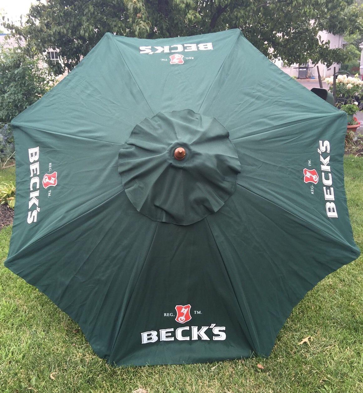 Beck S German Beer Logo 6 Beer Umbrella Market Patio Style Euc