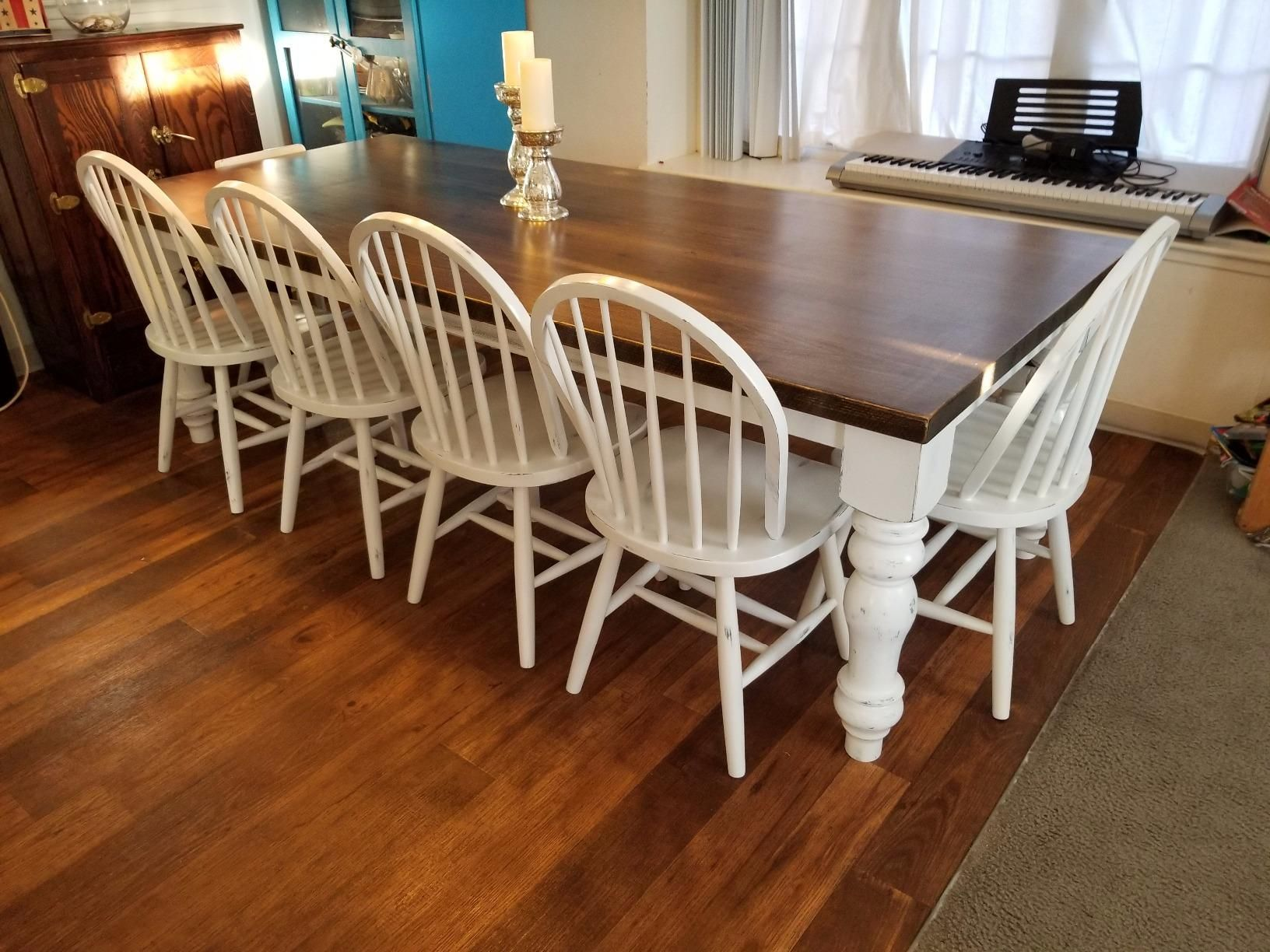 Chunky Unfinished Farmhouse Dining Table Legs Set Of 4 Turned Design 59 Inc Handmade