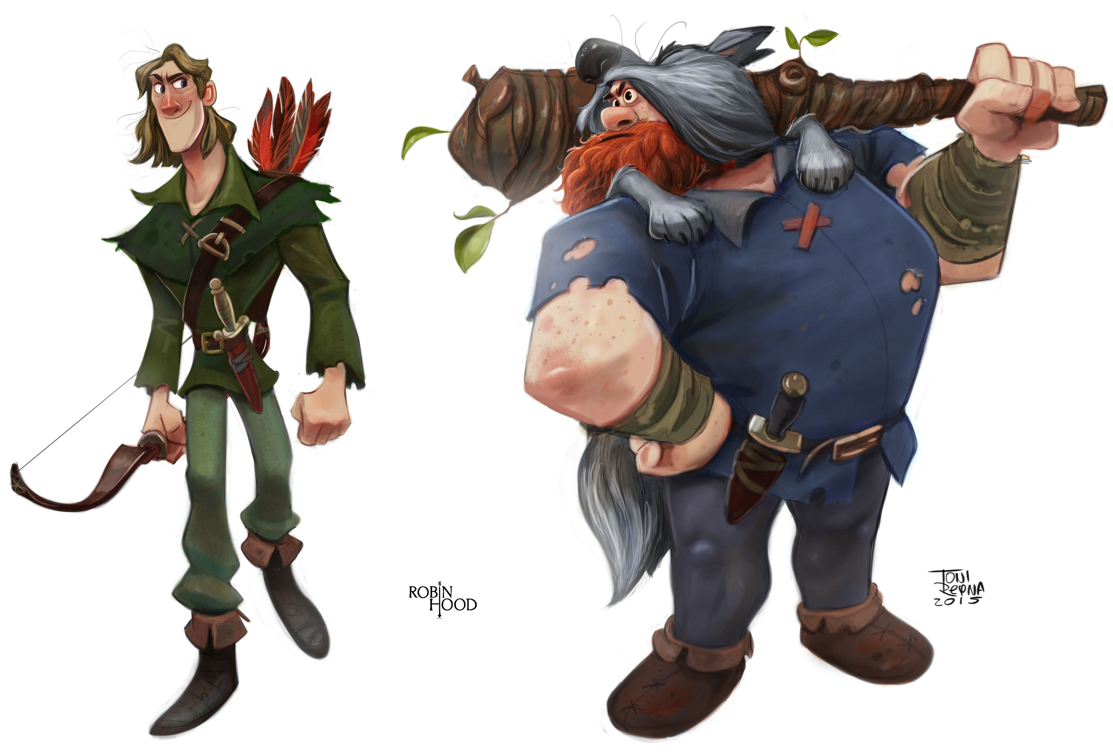 Robin Hood Line up for Anatomy Masters Book.   Characters 10 ...