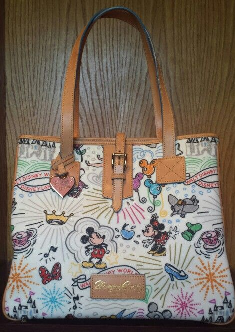 bdb7188277ca Disney Dooney   Bourke Large Cindy Tote This is the second edition of the  sketch pattern. My husband bought this for me at Disneyland as a wedding ...