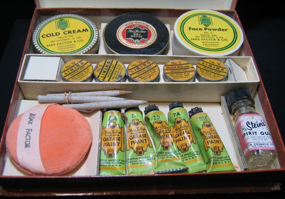 Vintage MAX FACTOR Stage Makeup Male RARE Kit Hollywood