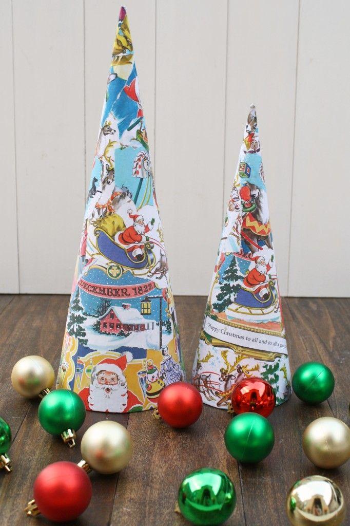 Vintage Book Christmas Trees - a most fabulous idea and I\u0027m a huge