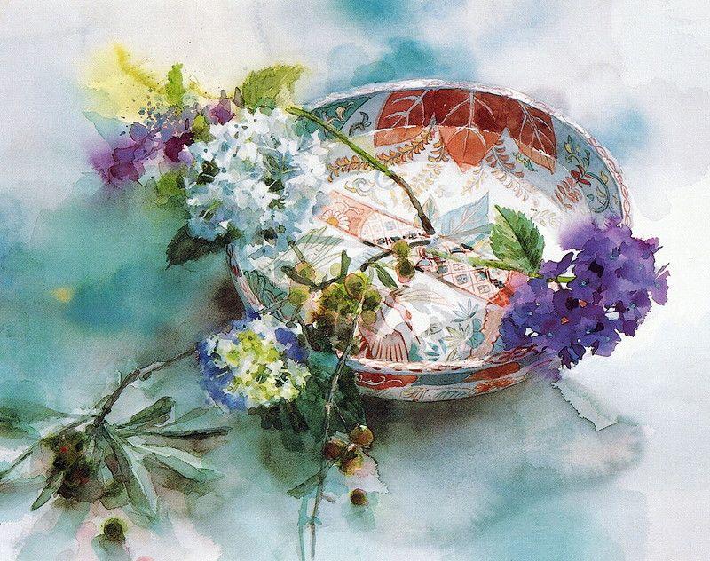 Majomajo17 Yuko Nagayama En 2020 Aquarelle Fleurs Peintures