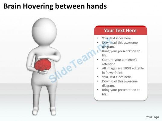 Brain Hovering Between Hands Ppt Graphics Icons Powerpoint