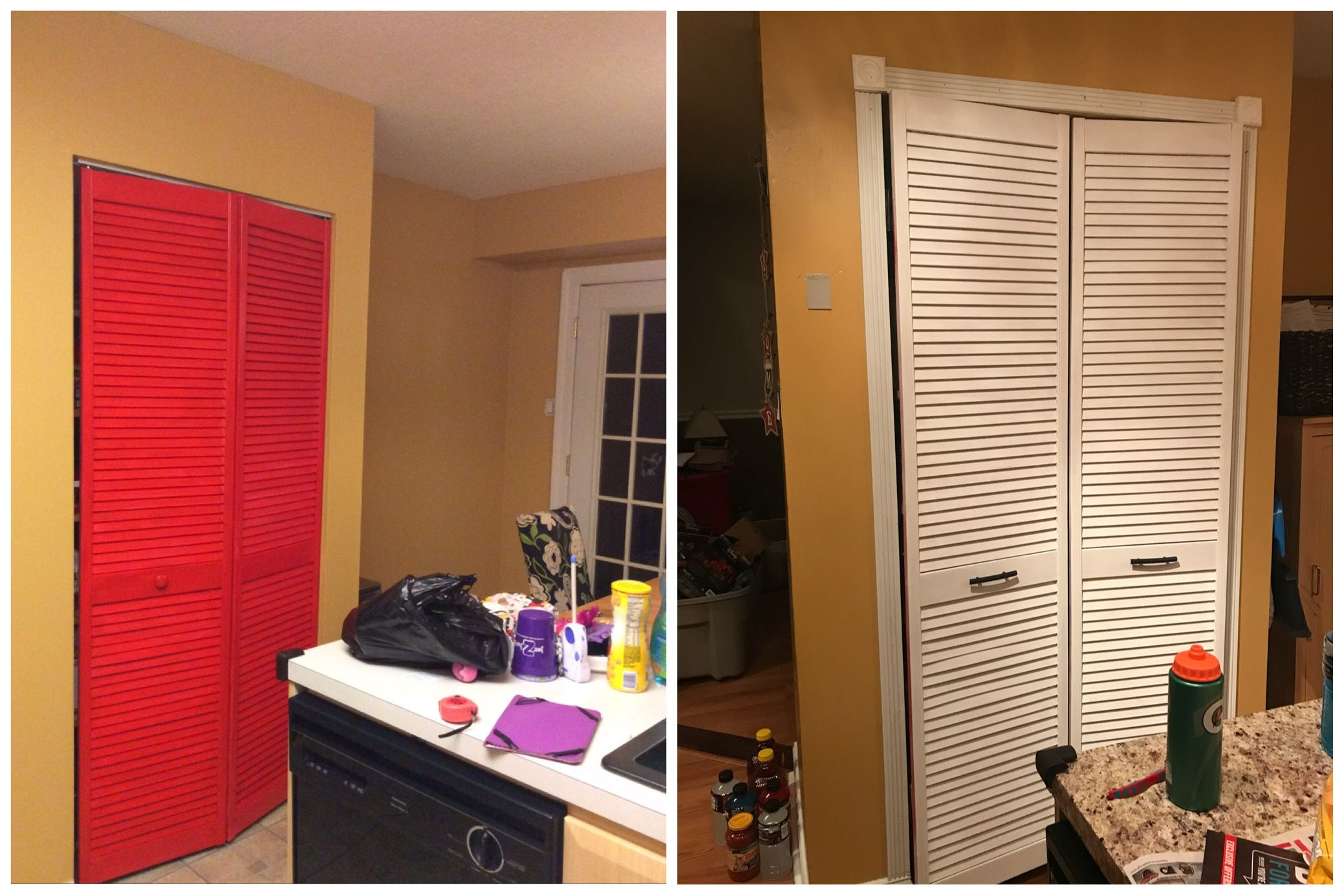 Diy bifold to french pantry door painted with annie sloan