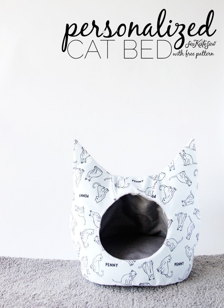 FREE Cat Bed Sewing Pattern | Sewing patterns, Cat and Patterns