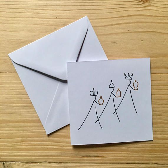 Hand Drawn Religious Christmas Cards Pack Of 4