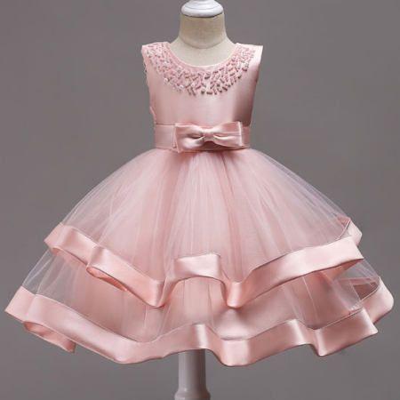 a9c240080fe7 Beads Bowknot Decorated Tulle Patchwork Princess Dress... toddlerprincessdress   pinkprincessdresstoddler  princessdressfortoddler  popreal