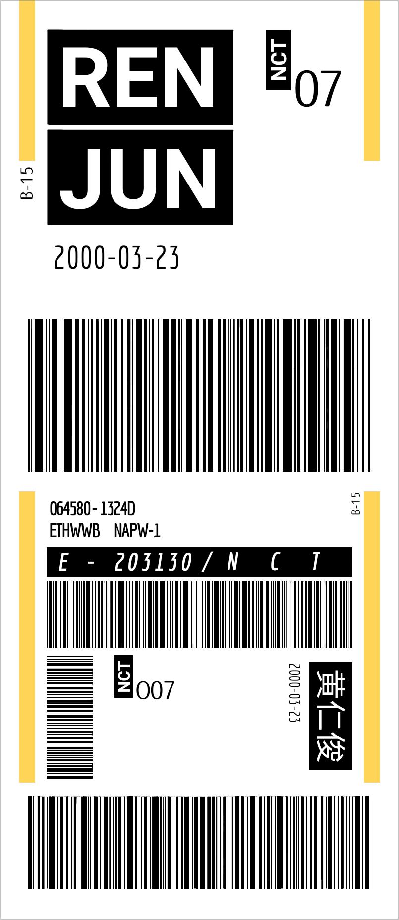 Nct Renjun Ticket Nct Desain Tiket