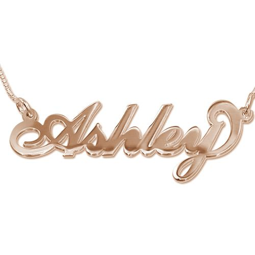18K Rose Gold Plated Silver Name Necklace #beyoubeunique