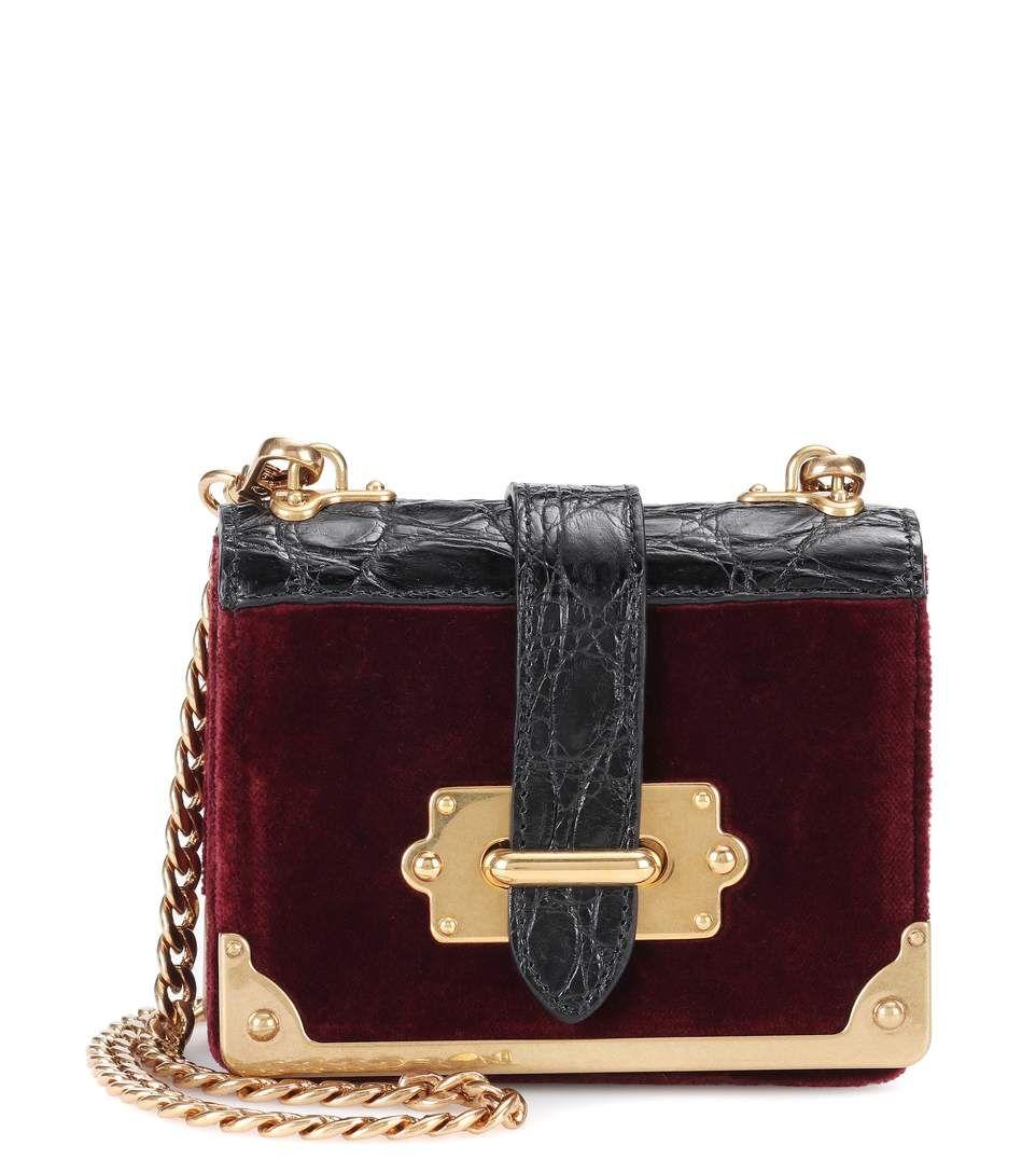 Micro Cahier Velvet Shoulder Bag - Prada   mytheresa   Bags ... df7eef348b