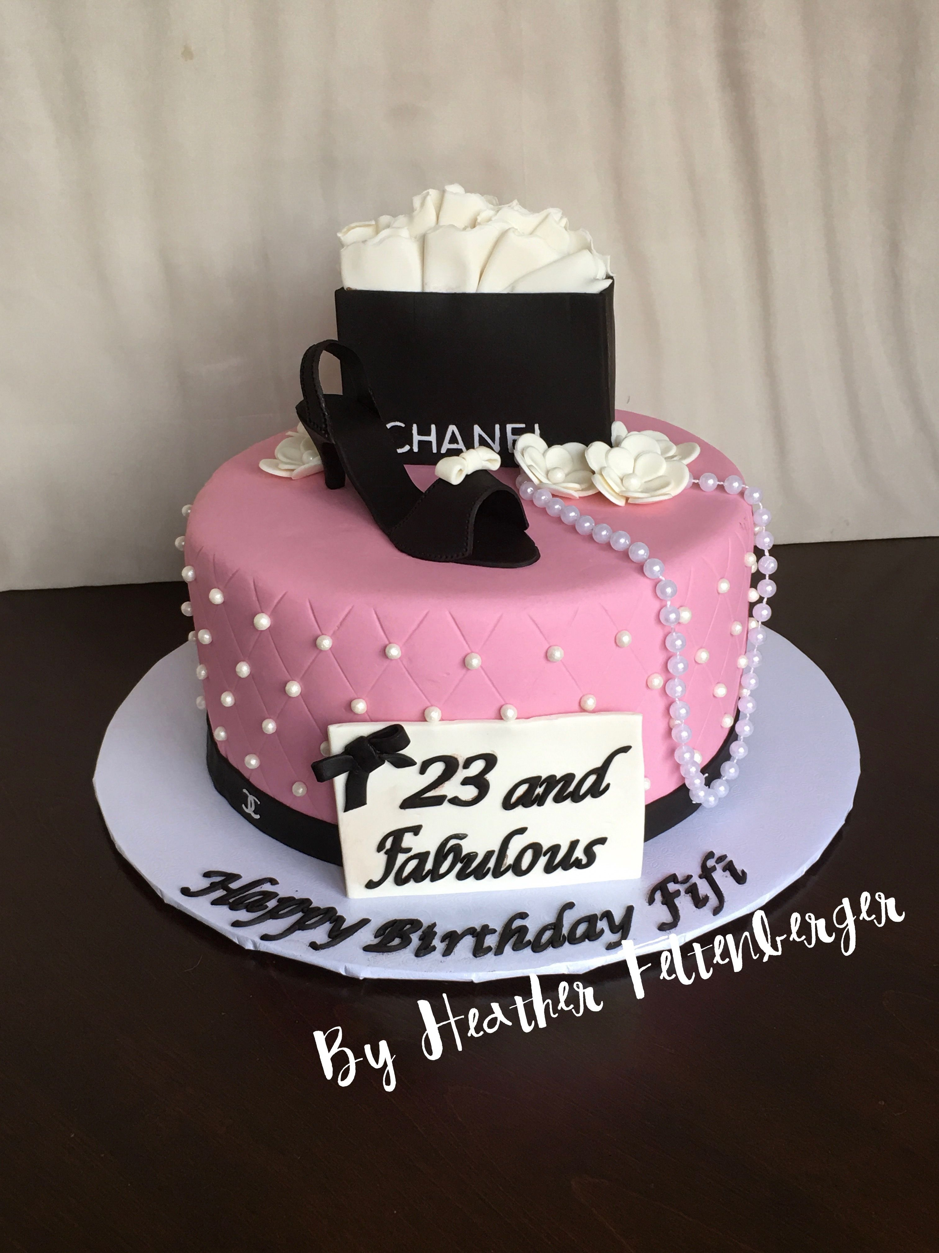 Coco Chanel birthday cake high heel fashion | My Cakes in 2018 ...