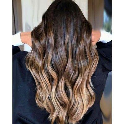 Extensions Clips D01 Ombre Tie Dye Chatain Chocolat Au Lait Bebihair Cheveux Naturels Remy Hair Cheveux Colloration Cheveux Cheveux Bruns