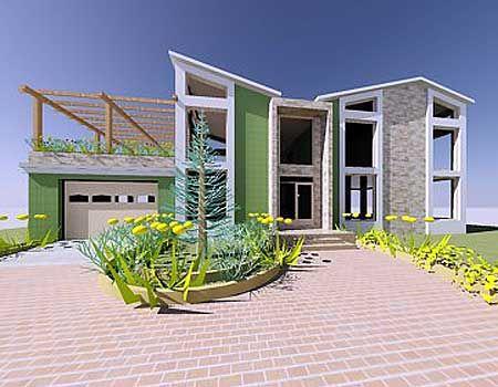 Plan 1200AJ: Stunning Contemporary Beach Home Plan   Patios, House ...