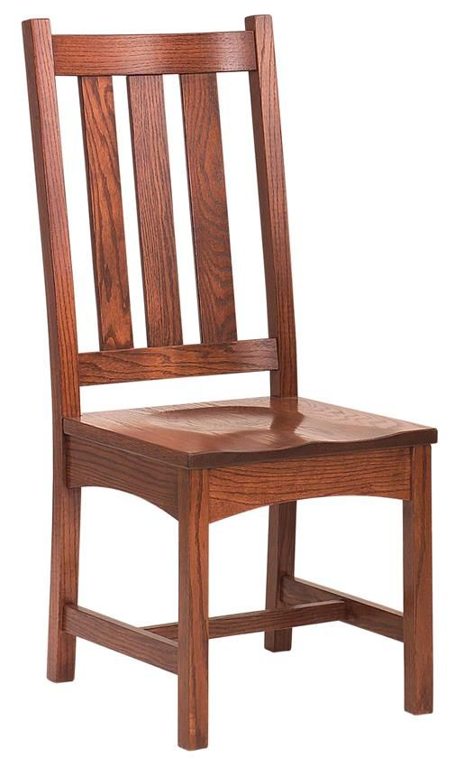 Amish Vintage Mission Dining Chair Comfortable Simple And Stylish