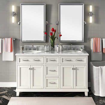 Pin By Alex Wilcox Curlycreative On Master Bathroom In 2021 Double Sink Vanity Double Vanity Bathroom Vanity Sink