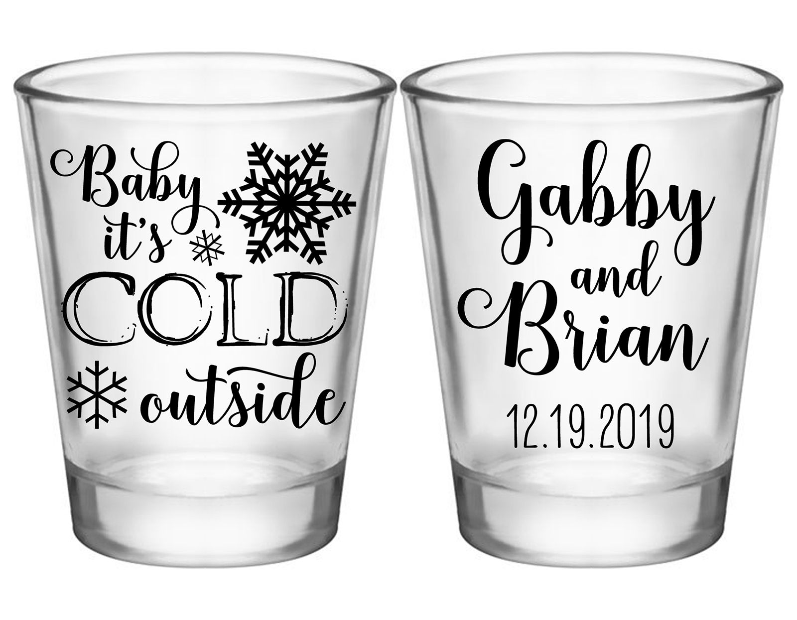 Personalized Wedding Shot Glasses Unique Wedding Favors Creative