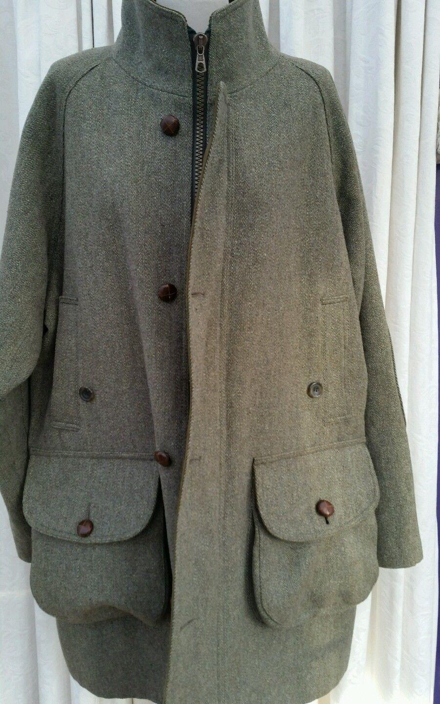 Men's GREEN Wool Derby Tweed CHRYSALIS Shooting KEEPER Coat JACKET XL 46/48/50 | eBay