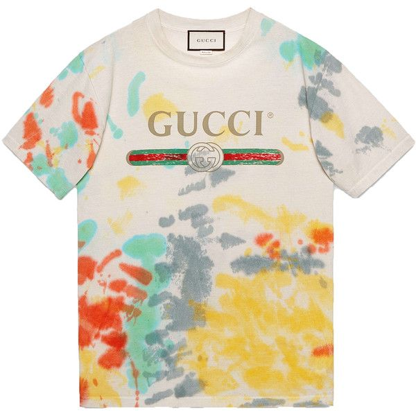 60143e5b014 Gucci Multicolor Tie Dye T-Shirt ( 550) ❤ liked on Polyvore featuring tops
