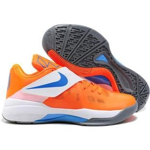 ... mujeres / hombres zapatos white / photo; nike zoom kd iv kevin durant  shoes vivid orange sport