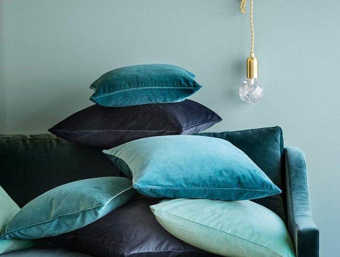 Quelle Peinture Choisir Pour L Interieur Idees En 55 Photos Canape Bleu Deco Interieure Deco Salon