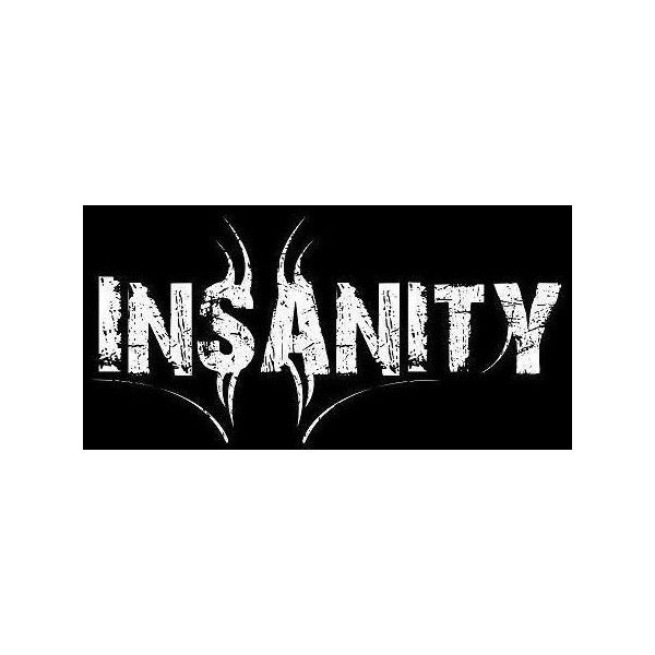 """Image detail for -Wallpaper Logo """"Insane"""" ❤ liked on Polyvore featuring black and white, text, quotes, phrase and saying"""