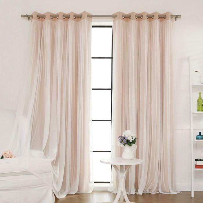 Tulle Blackout Grommet Curtain Panel Joss Main Drapes