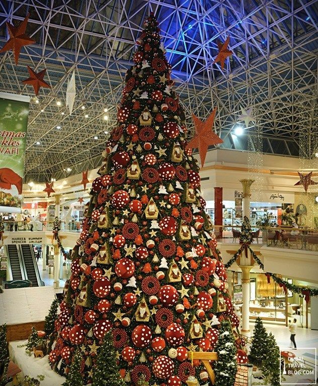 Is This The Biggest Christmas Tree In Dubai Dubai Travel Blog Big Christmas Tree Colorful Christmas Tree Christmas Tree