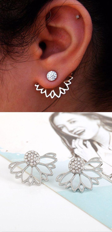 Piercing ideas body  Fleurlise Ear Jacket  Jacket earrings Ear piercings and Ear jacket