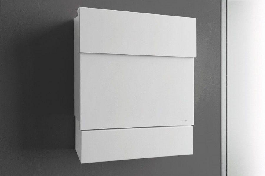 Letterman V Briefkasten radius design lettermann v weiß briefkasten