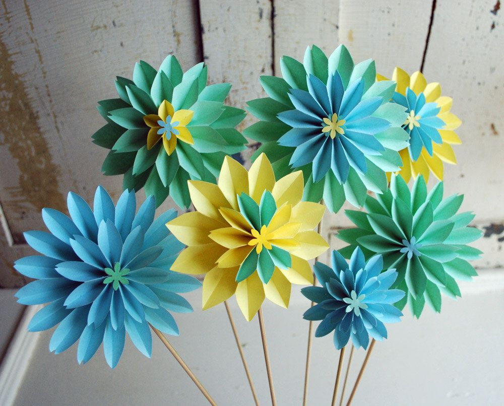 Without The Stick The Paper Flower Can Be A Unique Bow For Your