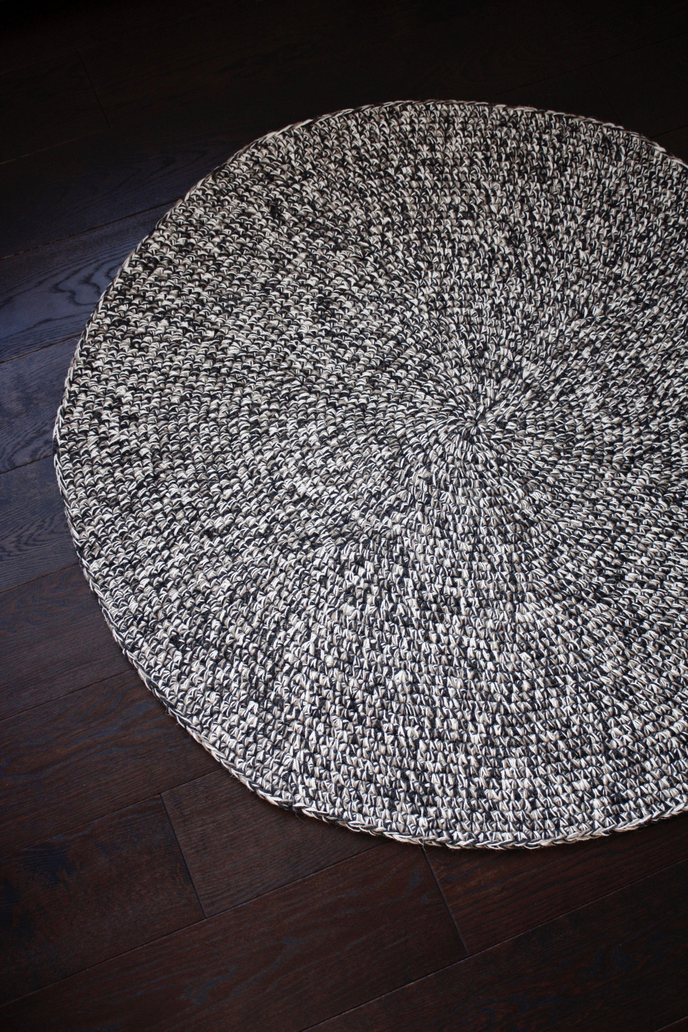 49(125Cm) Wool Rug Knitted Rugs Bedroom Rug Wool Rug Handcrochet Round Rug Wool Carpet Nursery Rug Handmade