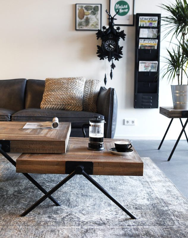 salontafel 1548 vierkant hout metaal 80 cm by boo trendy salontafel 1548 vierkant hout metalen poten van by boo afmetingen b x d x h 80 x 80 x 40 cm