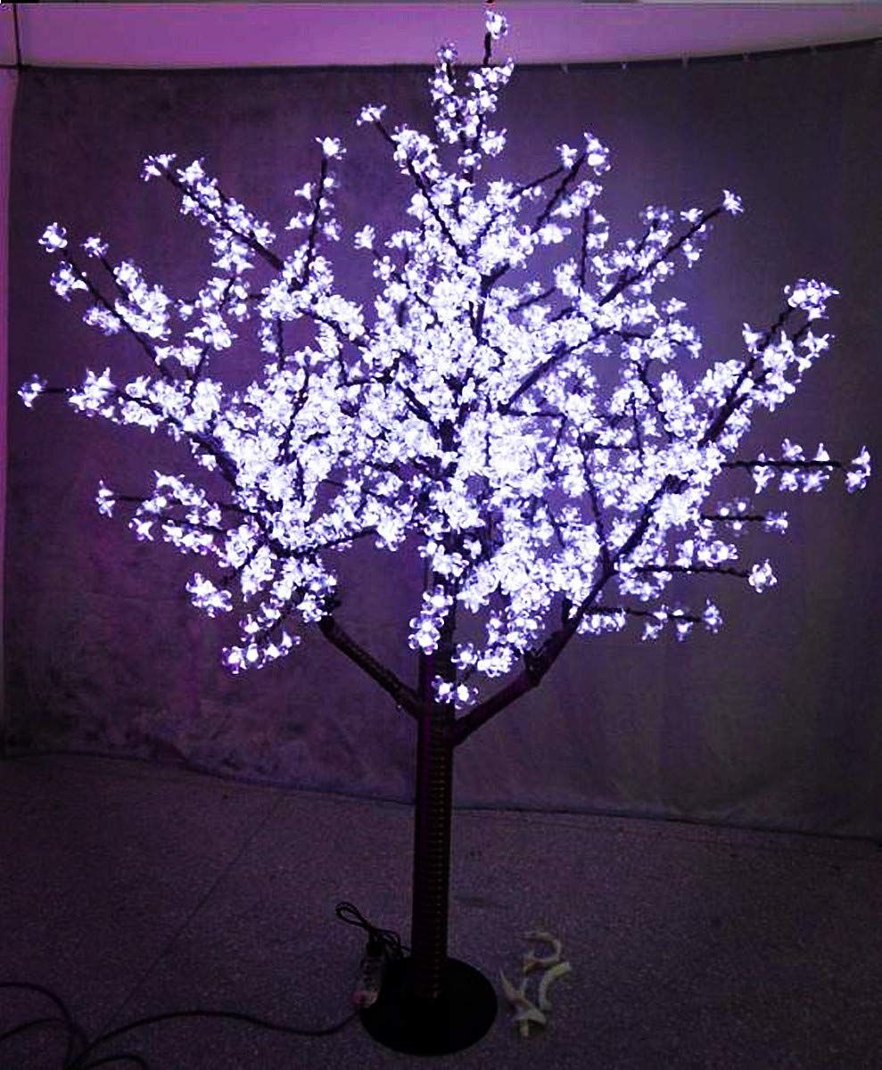 Starlight Led Cherry Blossom Tree 5 Feet White Outdoor Use Cherry Blossom Light Tree Christmas Tree With Coloured Lights Outdoor Artificial Christmas Trees
