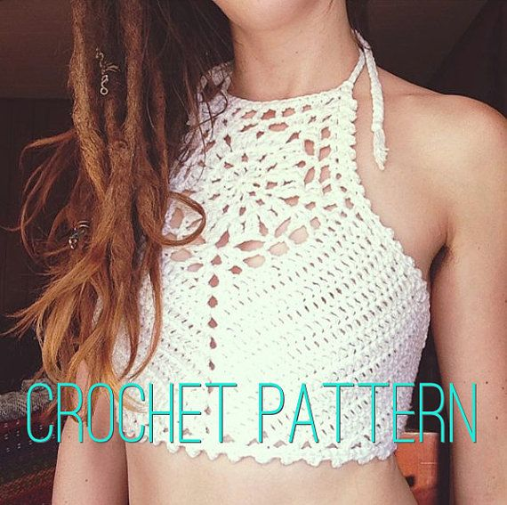 Crochet Pattern - Zinnia Crochet Crop Top | Pinterest | Ganchillo ...