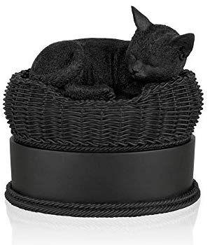 Amazon.com : Perfect Memorials Black Cat in Basket ...
