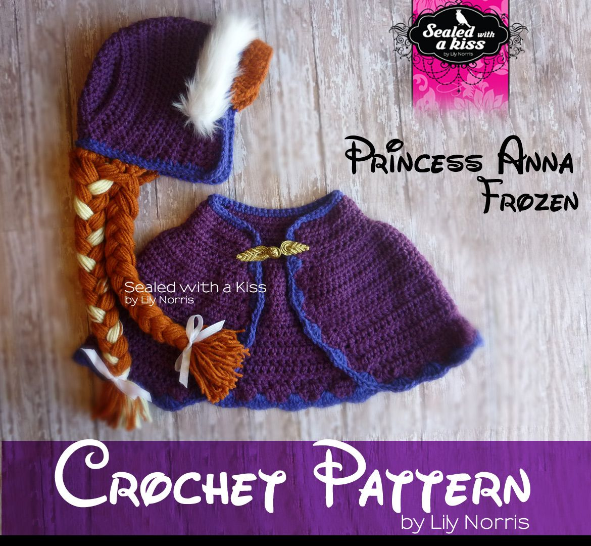 Crochet pattern princess anna anna hat crochet anna inspired crochet pattern bonnet cape bankloansurffo Choice Image
