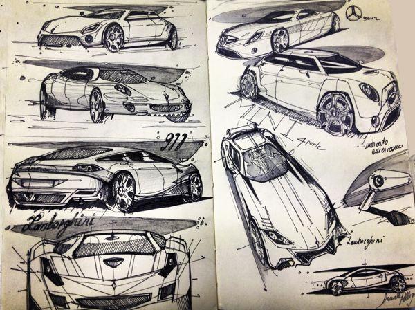 AutomotiveDesign_My Sketch by Daniele Pelligra, via Behance