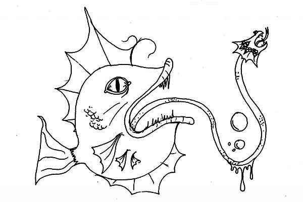 Hideous Sea Monster Coloring Page : Kids Play Color di 2020