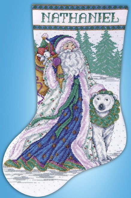 Snow Bear and Sleigh Dimensions Counted Cross Stitch