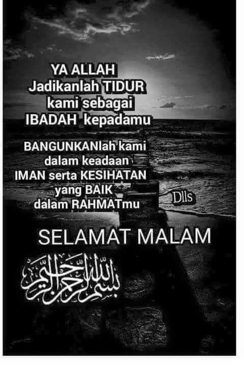 Kata Kata Selamat Tidur Islam