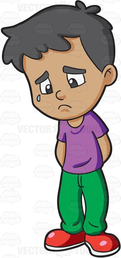 A Boy Feeling Gloomy And Sad Art Kids And Clip Art