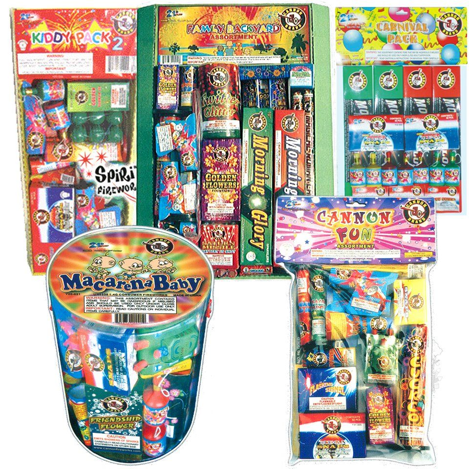 new cannon fireworks assortments are in at111 carnival pack s
