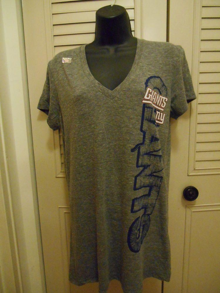 New York Giants XL T-Shirt Heathered Gray Women s NFL Apparel Football NWOT   NFLTeamApparel  NewYorkGiants 24b192c29f