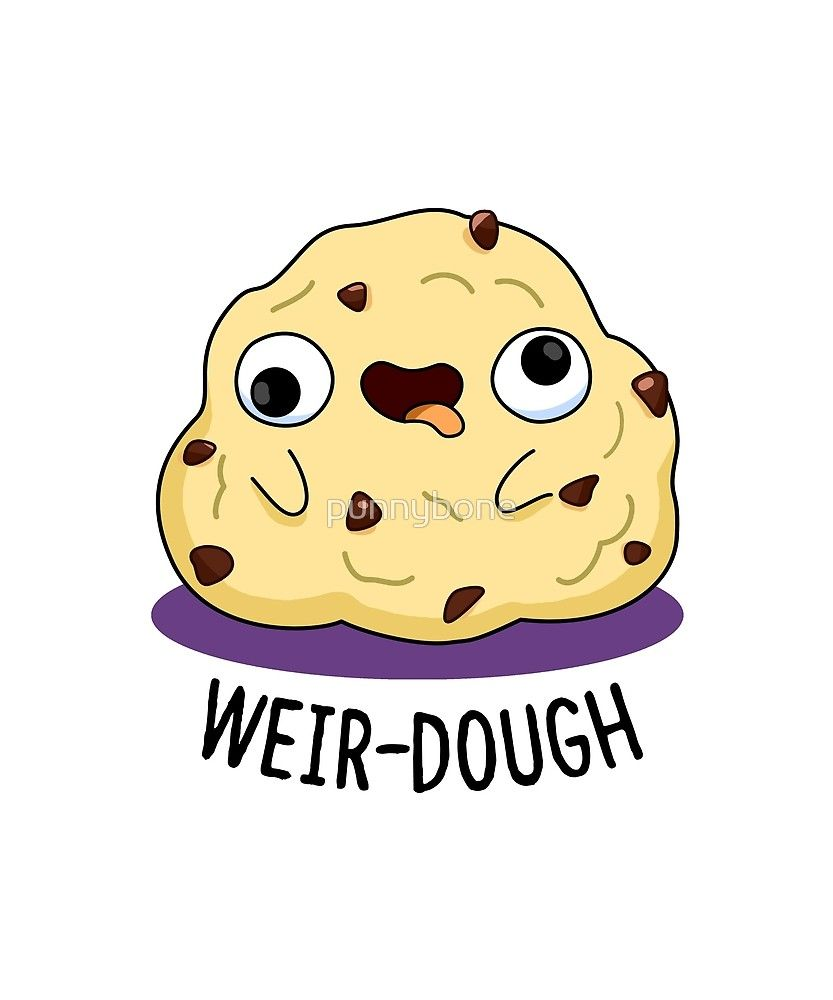 'Weir-dough Food Pun' Sticker by punnybone