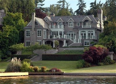 Lake Washington Waterfront Mansion. Beautiful.