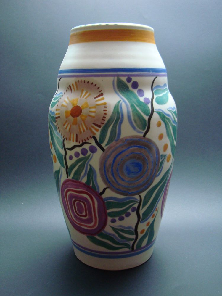 Rare Poole Pottery Vase 1930s Possible Trial Vintage Vases