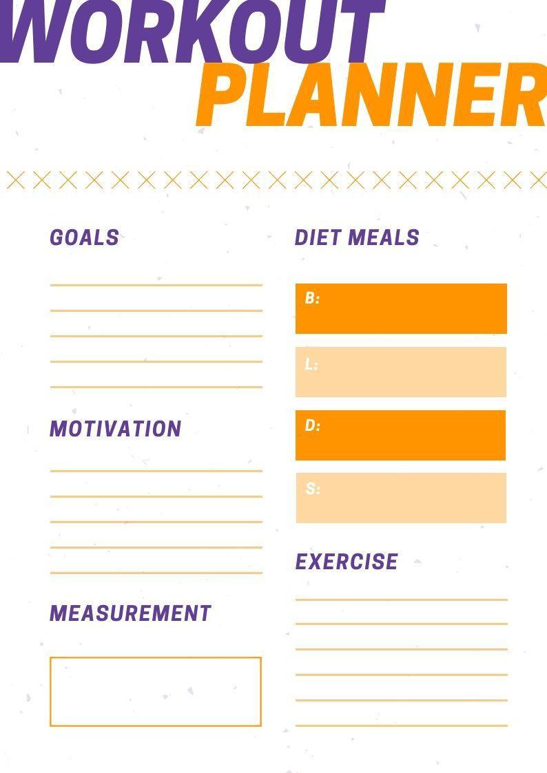 2019 editable workout planner | 2019 Calendars | Fitness